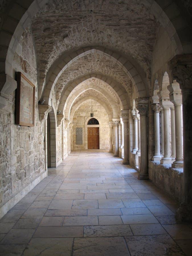 Arcada en Bethlehem foto de archivo
