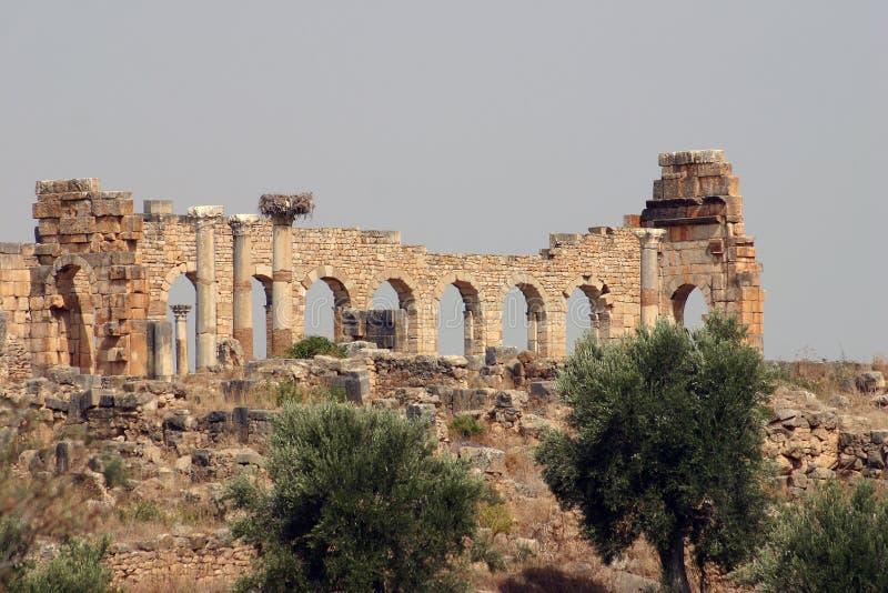 Arcadas de Volubilis imagen de archivo