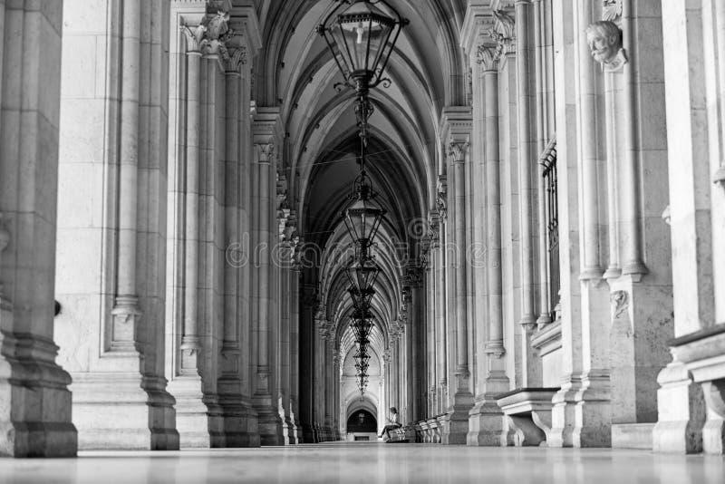 Arcadas em Viena imagens de stock