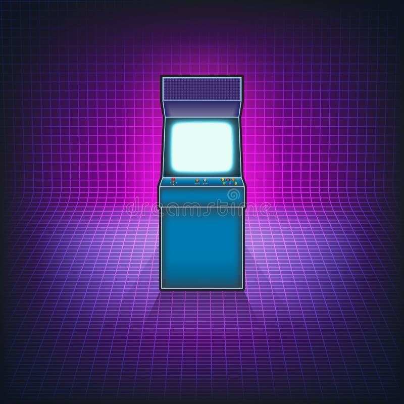 Arcade Αναδρομική μηχανή παιχνιδιών arcade απεικόνιση αποθεμάτων