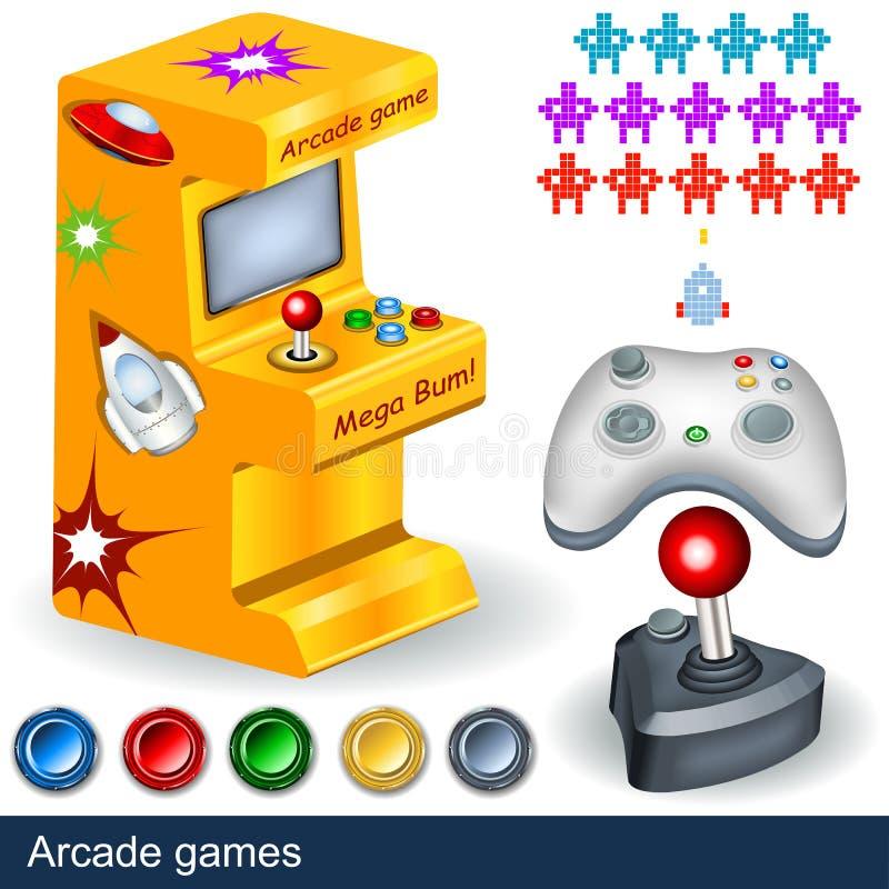 arcade παιχνίδια απεικόνιση αποθεμάτων