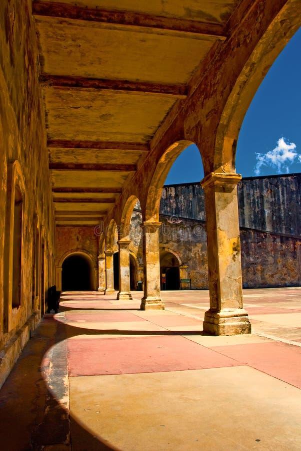 arcade φρούριο τα παλαιά ισπανι& στοκ φωτογραφίες