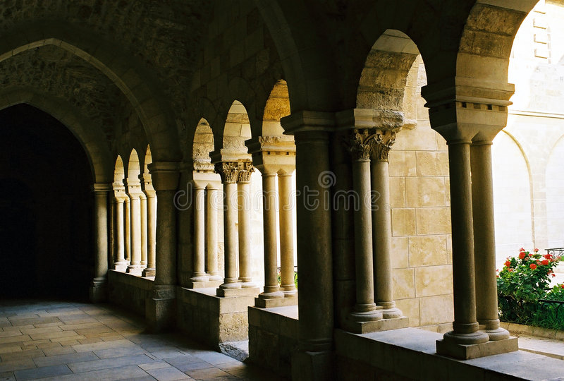 Arcade in Bethlehem. royalty free stock images