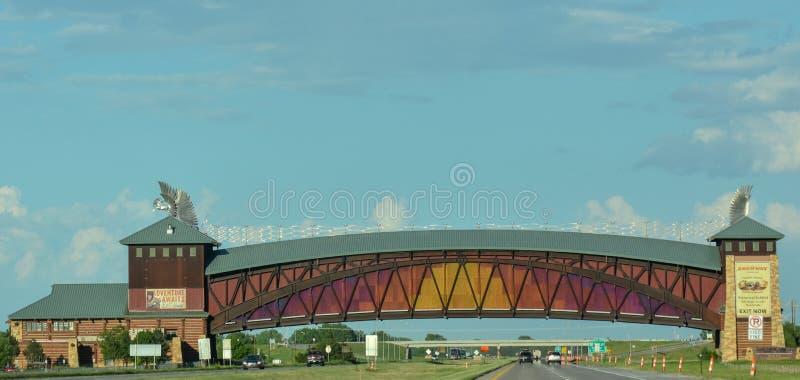 Arcade de route de Great Platte River images stock