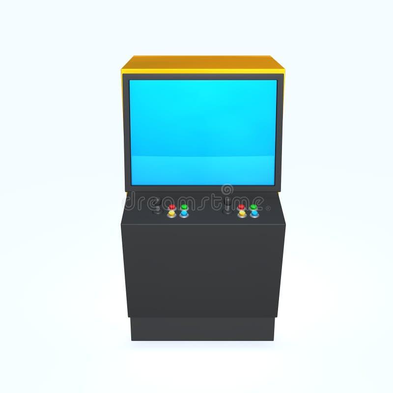 Arcade game stock illustration