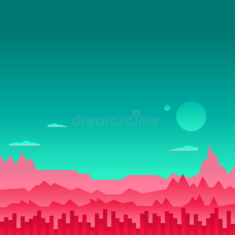 Arcade Game Background Mars Space Vector vector illustration