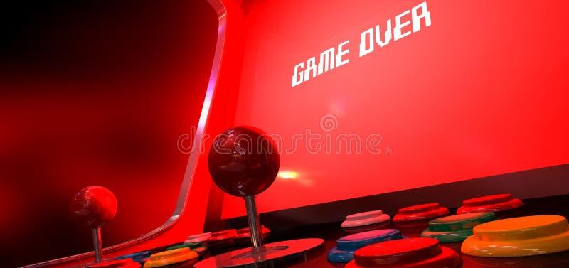 Arcade Game Game Over royalty free stock photos