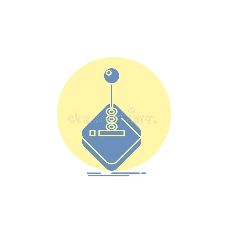 Arcade, game, gaming, joystick, stick Glyph Icon. Vector EPS10 Abstract Template background stock illustration