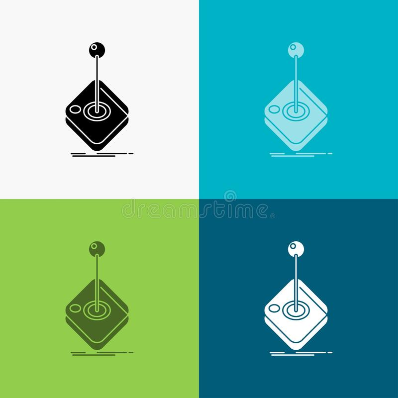 Arcade, game, gaming, joystick, stick Icon Over Various Background. glyph style design, designed for web and app. Eps 10 vector. Illustration. Vector EPS10 vector illustration