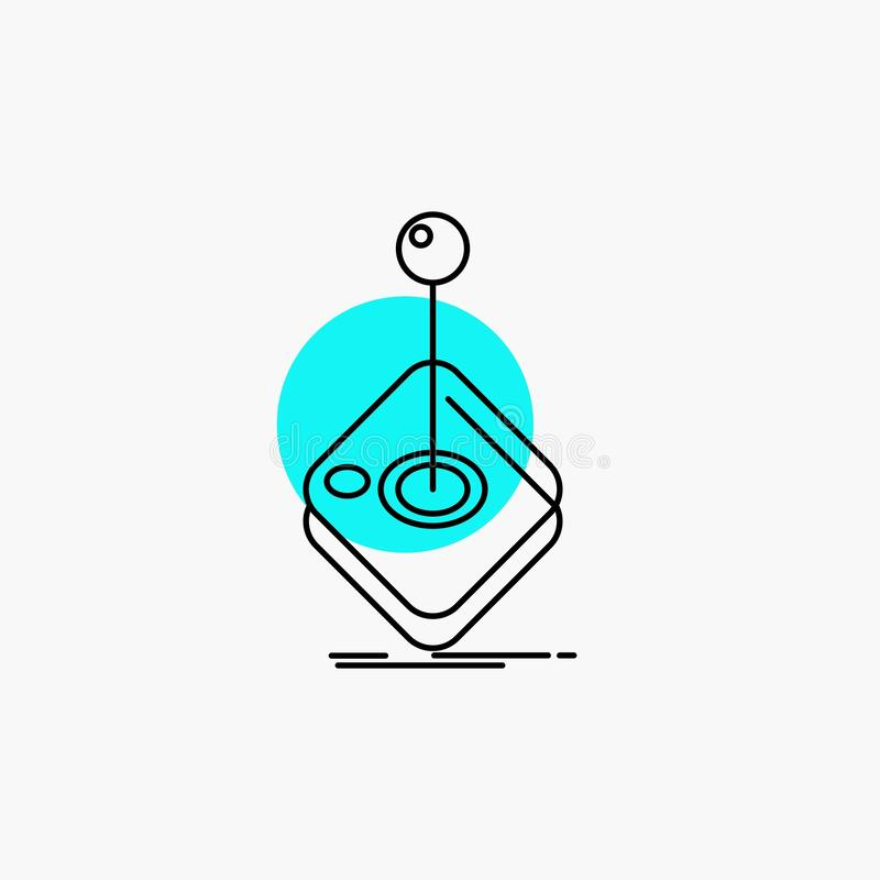 Arcade, game, gaming, joystick, stick Line Icon. Vector EPS10 Abstract Template background vector illustration