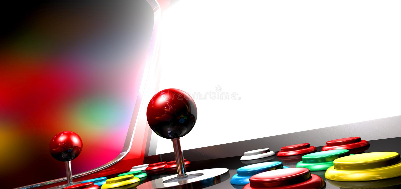 Arcade Game With Illuminated Screen illustration stock