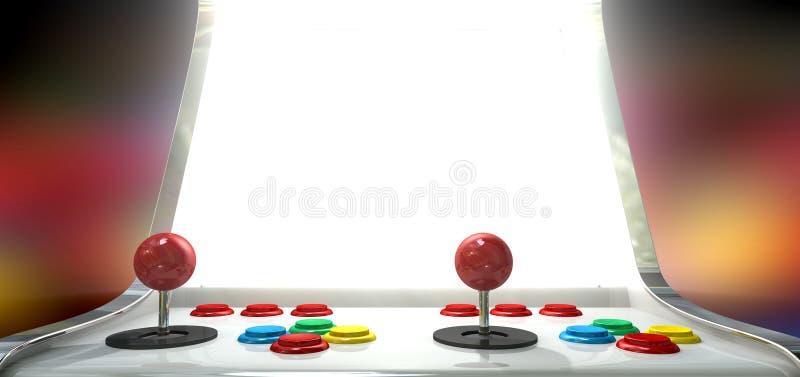 Arcade Game With Illuminated Screen stock illustration