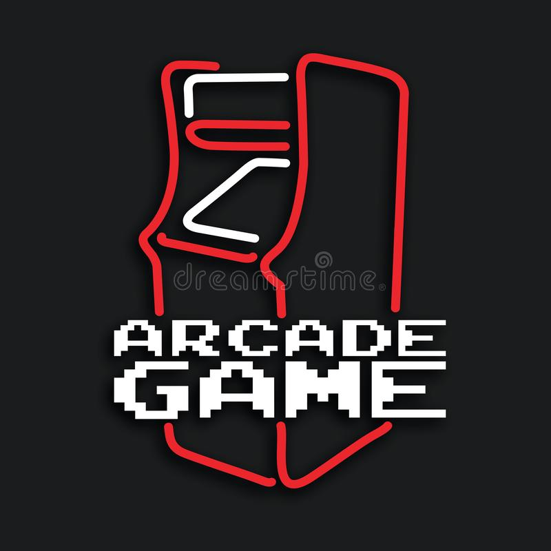 Arcade game machine cabinet vector vector illustration
