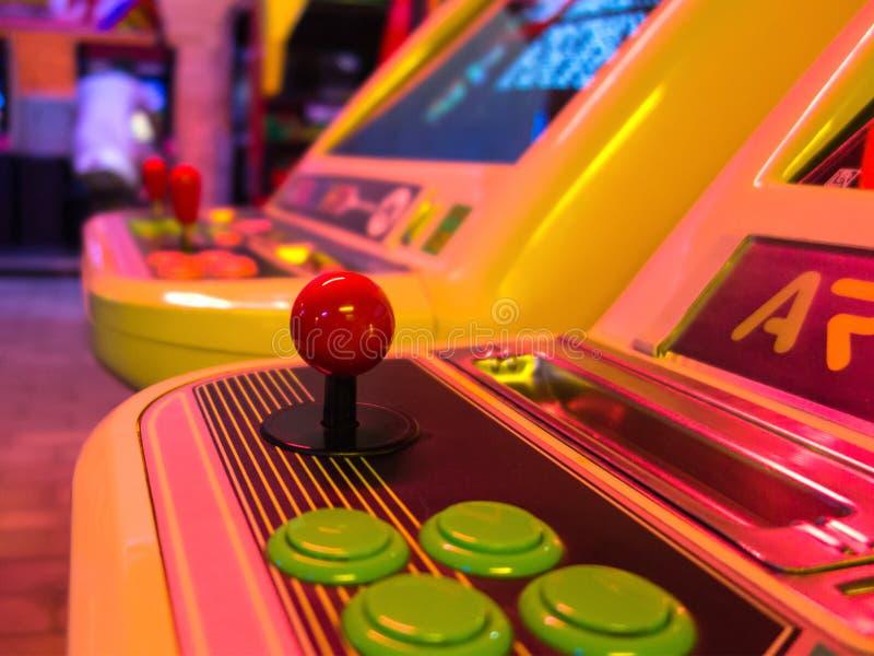 Arcade game machine stock photo
