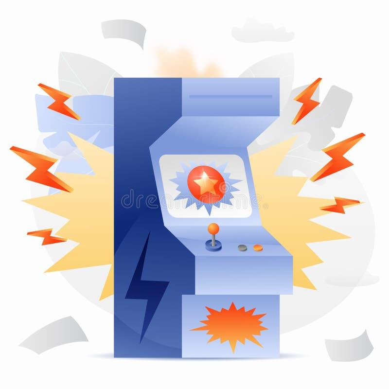 Arcade Game Machine Illustration vektor illustrationer