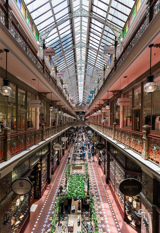 Arcade historique d'achats photographie stock libre de droits