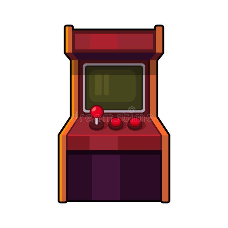 Arcade Machine clássico Armário do jogo do estilo antigo Vetor ilustração royalty free