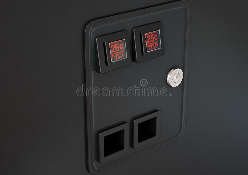 Arcade Machine Coin Slot Panel stock illustration