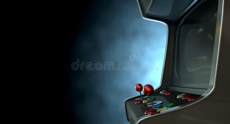 Arcade Machine Dramatic View lizenzfreie stockfotografie