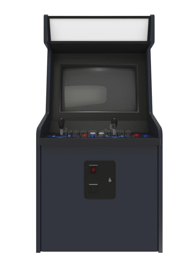 Arcade Machine Front View stock illustrationer