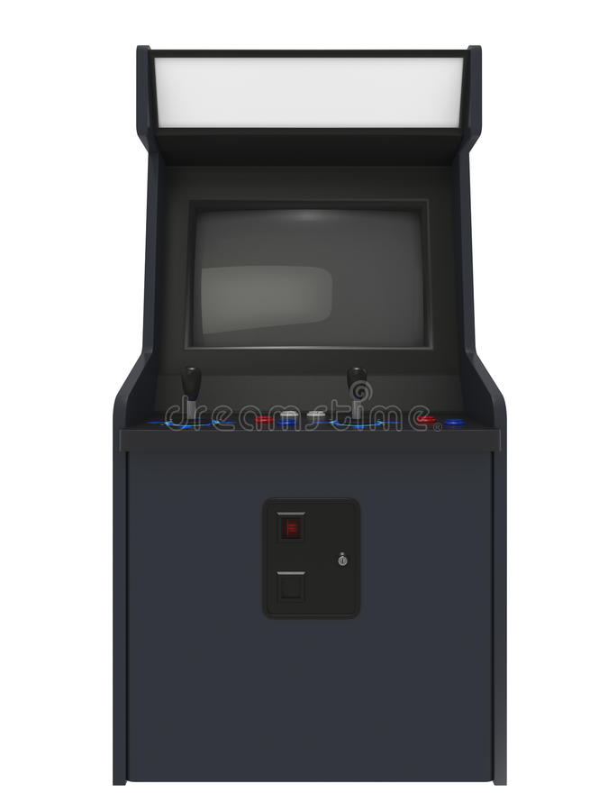Arcade Machine Front View stock illustration