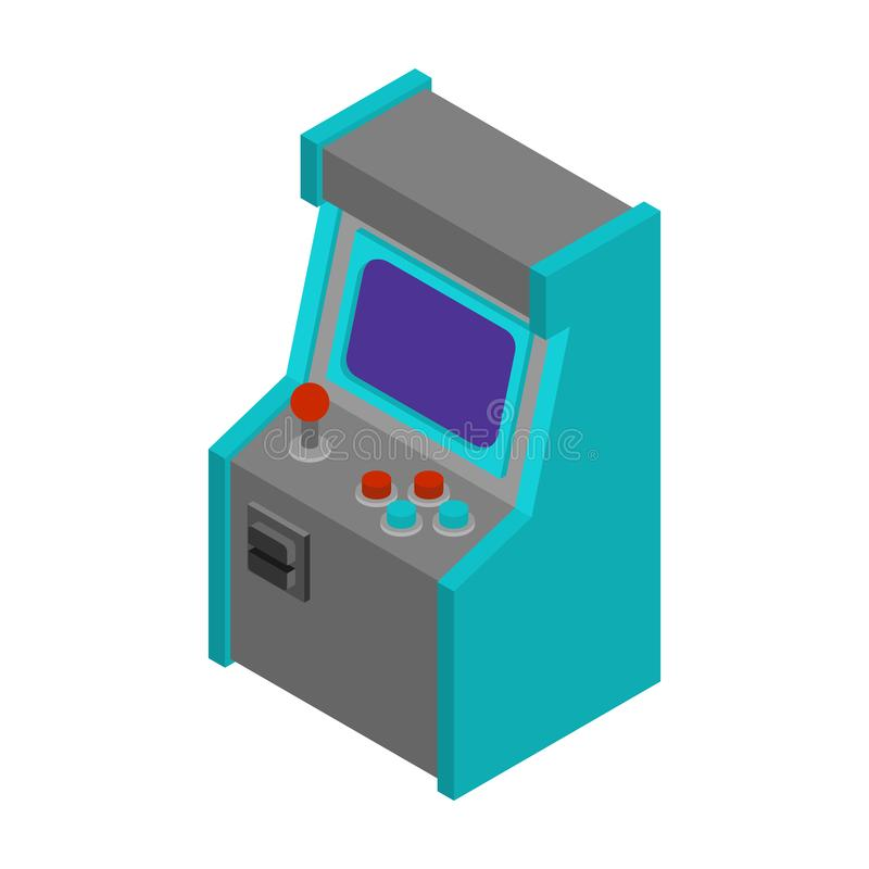 Arcade Machine Gaming idoso Jogo retro do jogo de vídeo ilustração royalty free