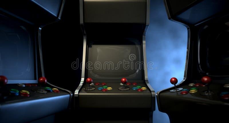 Arcade Machine Group Huddle lizenzfreie stockfotografie