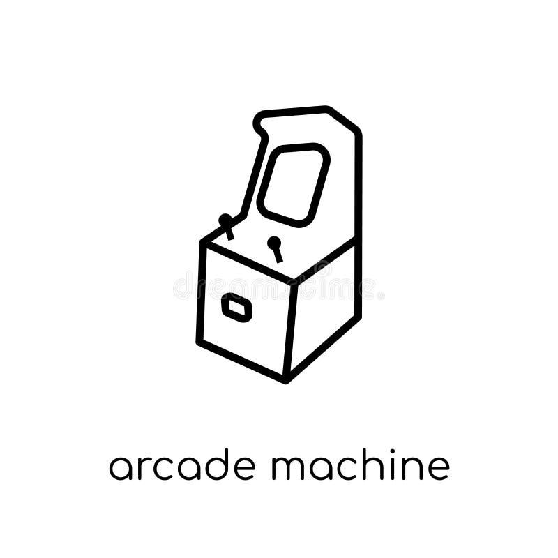 Arcade Machine-Ikone von der Unterhaltungssammlung lizenzfreie abbildung