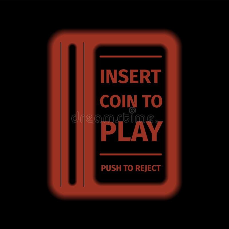 Arcade Machine Insert Coin Slot ilustração stock