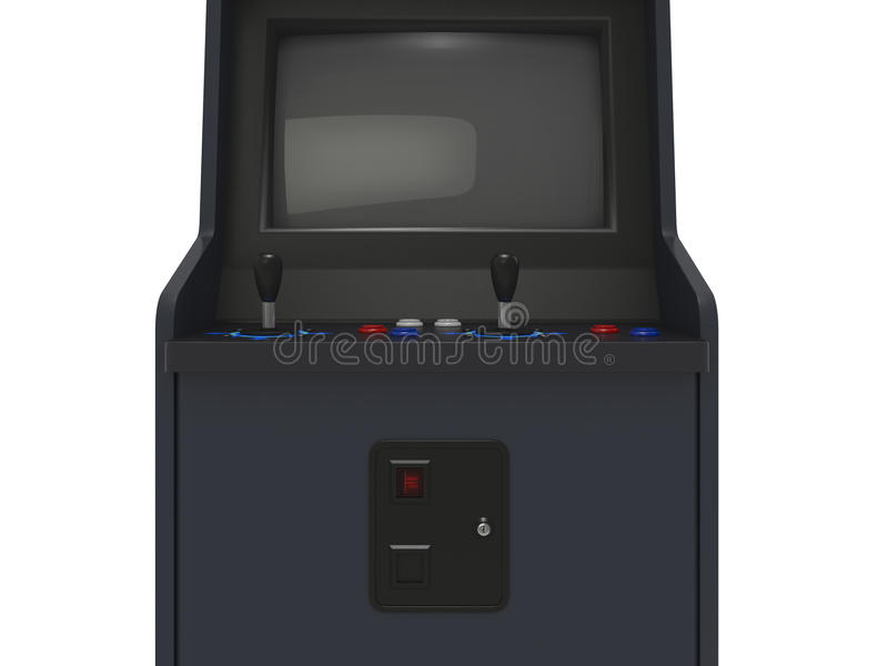 Arcade Machine Medium View stock illustration