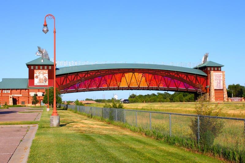 Arcade Nébraska de route de Great Platte River photographie stock libre de droits