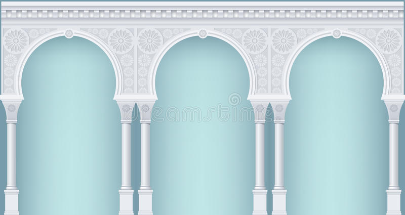 Arcade in oriental style royalty free illustration