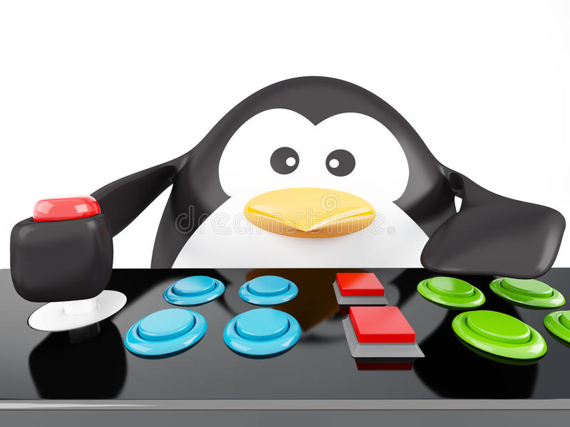 Download Arcade penguin stock illustration. Image of game, plaything - 23583452
