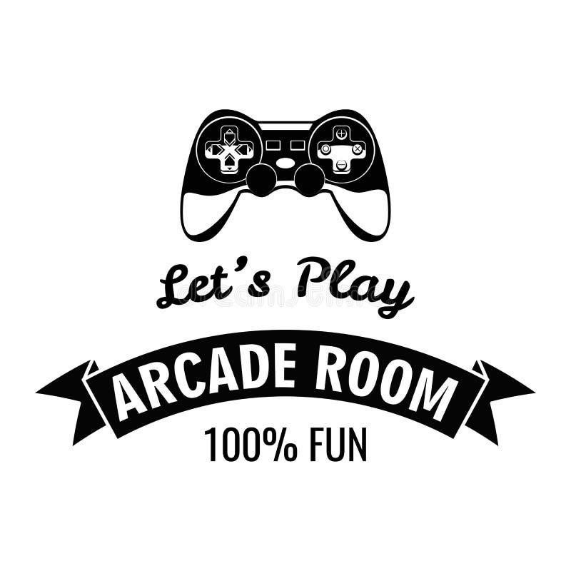 Arcade Room Label Gamepad deixa o jogo Ilustração do vetor isolada no branco ilustração do vetor