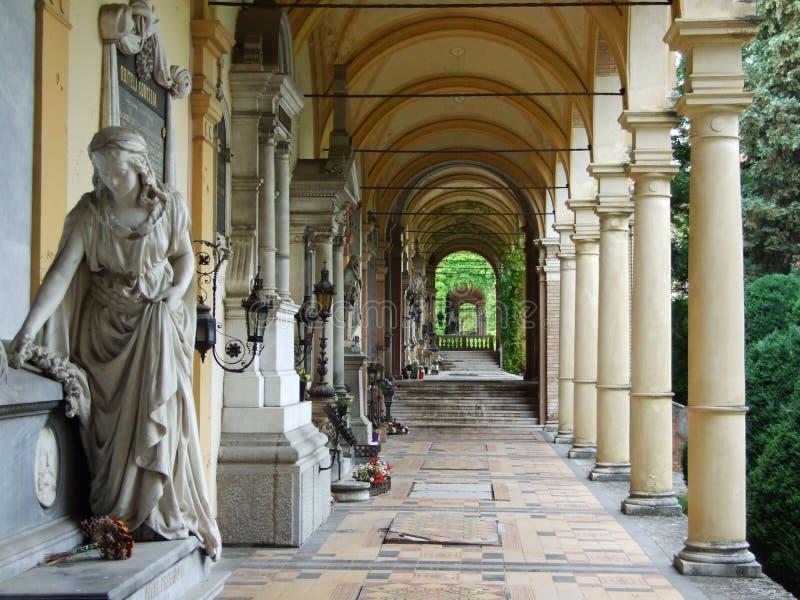 Arcade van de Mirogoj-Begraafplaats stock fotografie