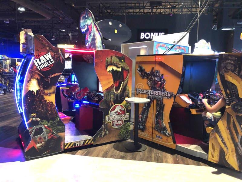 Arcade Video Games lizenzfreie stockbilder