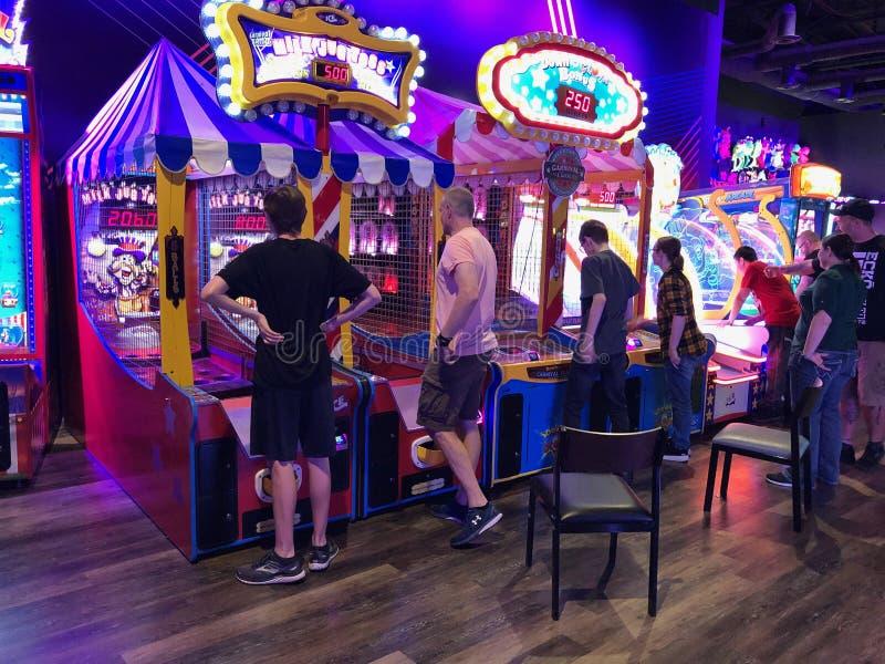 Arcade Video Games stockfotos