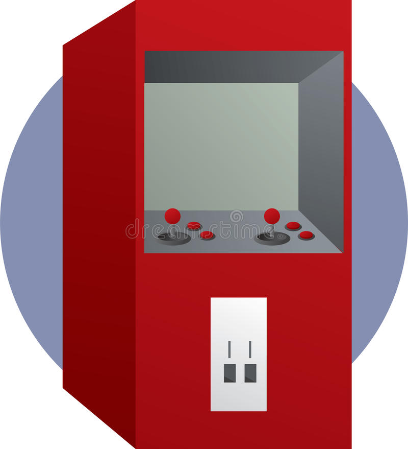 Download Arcade Videogame With Joysticks And Buttons Stock Illustration - Illustration: 12711469