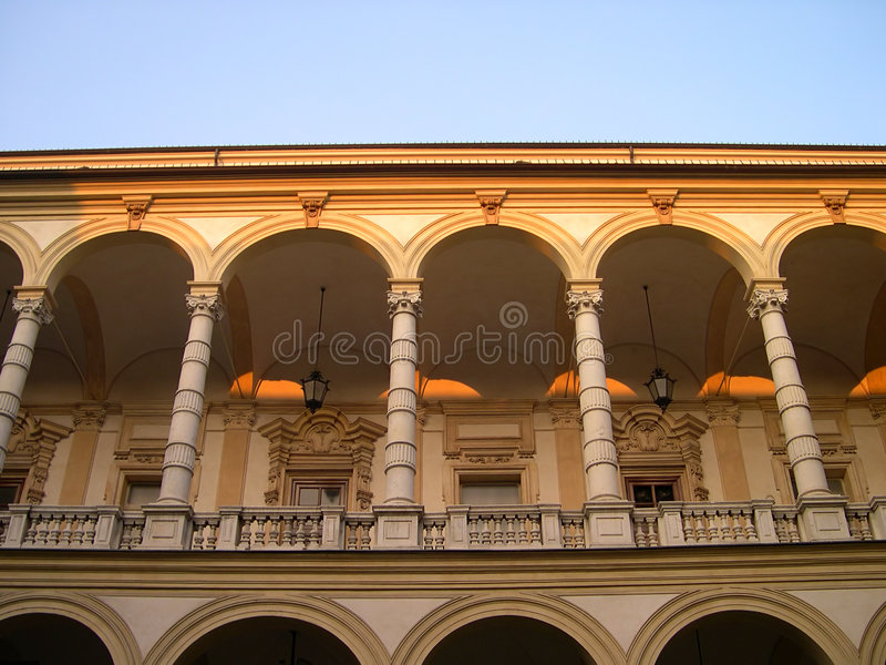 Arcaded Street In Turin Stock Images