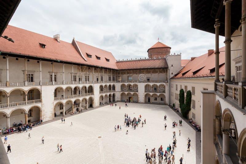 arcades αναγέννηση της Κρακοβίας Πολωνία κάστρων wawel patio στοκ φωτογραφία
