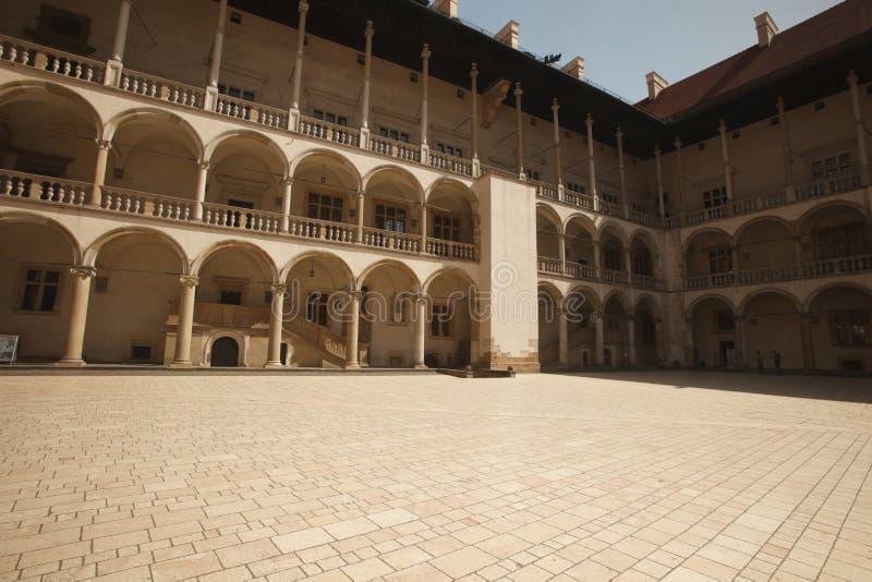 Arcades σε Wawel Castle στην Κρακοβία, Πολωνία στοκ φωτογραφία με δικαίωμα ελεύθερης χρήσης