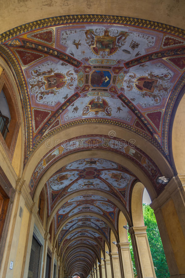 Arcades της Μπολόνιας Αιμιλία-Ρωμανία Ιταλία στοκ φωτογραφία με δικαίωμα ελεύθερης χρήσης