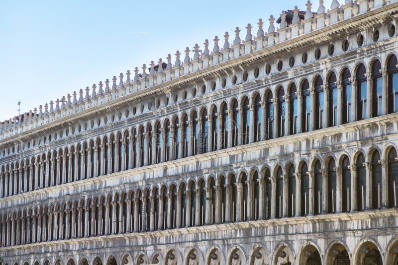 Arcades της πρόσοψης στην πλατεία SAN Marco στη Βενετία, Ιταλία στοκ εικόνες με δικαίωμα ελεύθερης χρήσης