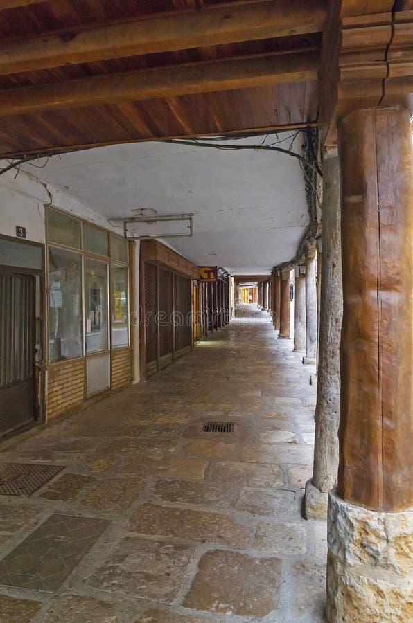 Arcades της πόλης Medina de Rioseco στοκ φωτογραφίες