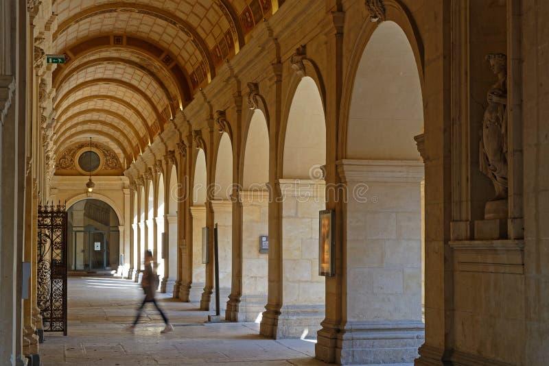Arcades des jardins du musée des beaux-arts de Lyon image libre de droits