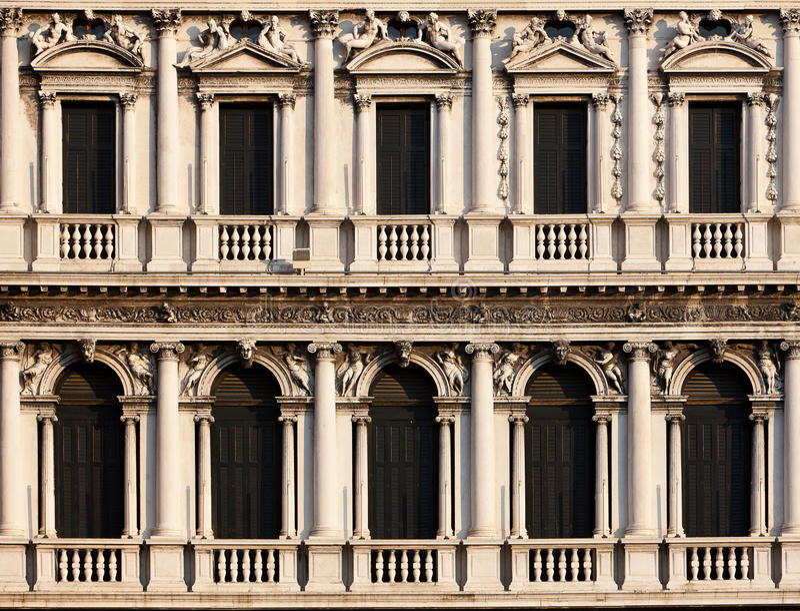 Arcades of the Piazza di San Marco, Venezia stock photo
