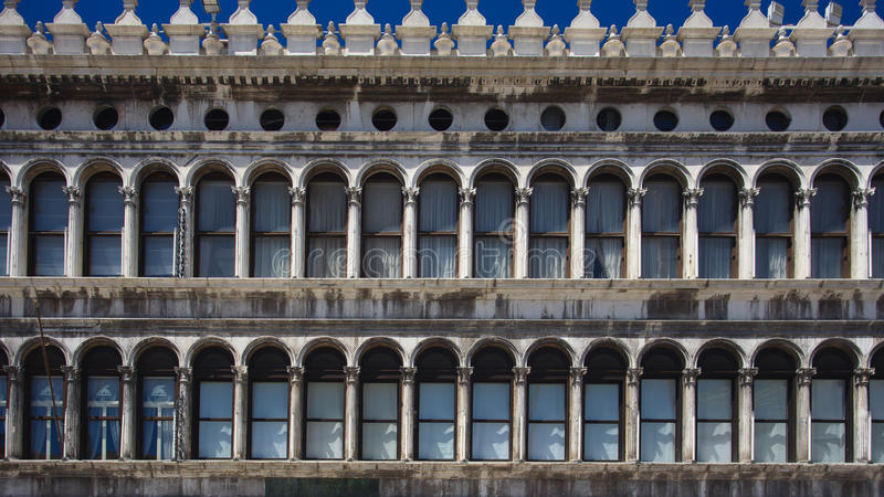 Arcades of piazza San Marco in Venice royalty free stock images