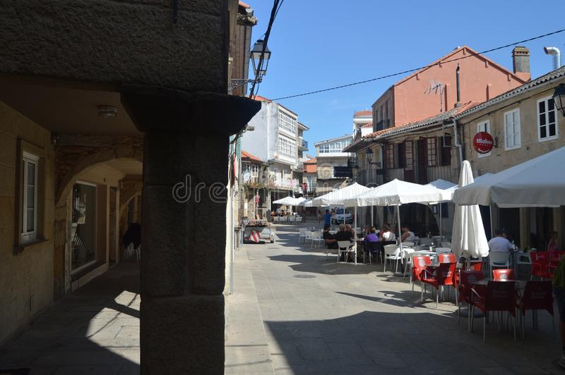 Arcades Of The Real Street Dated In The X Century In The Medieval Town Of Walls. Nature, Architecture, History, Street Photography royalty free stock photo