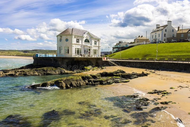 Portrush, Northern Ireland. The Arcadia, a historic cafe and ballroom in the coast of Portrush, a small seaside resort town in County Antrim, Northern Ireland stock photography