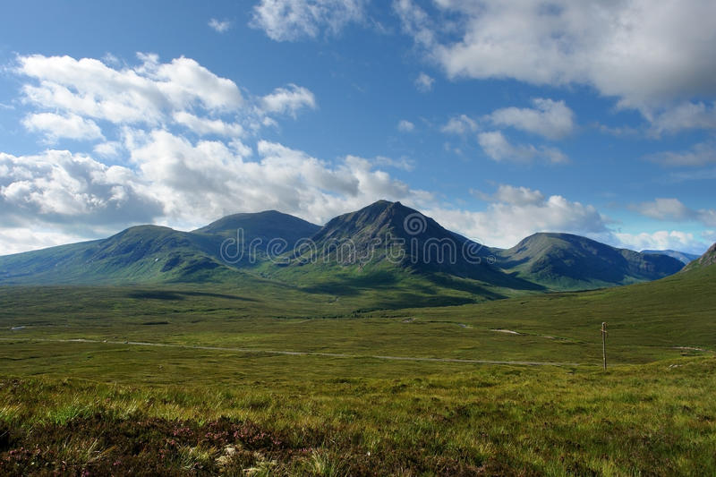 Arcadian scenery around Rannoch Moor royalty free stock photo